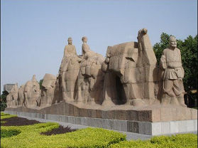 丝绸之路群雕